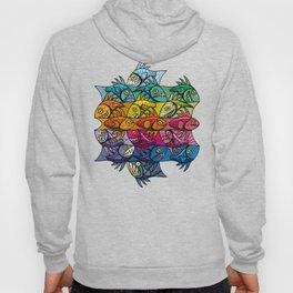 Escher Fish Rainbow Pattern Hoody
