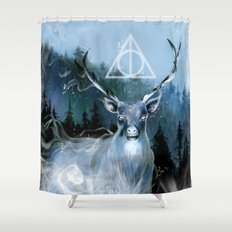 My Patronus is a Stag Shower Curtain