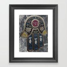 Jewish Hamsa Framed Art Print