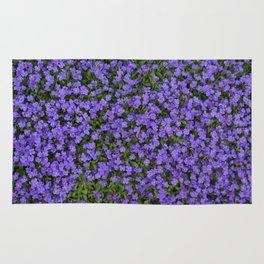 Tiny Purple Flowers Rug
