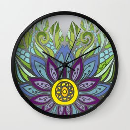 Peaceful Flower Wall Clock