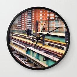 Subway platform at Bay 50 street Wall Clock