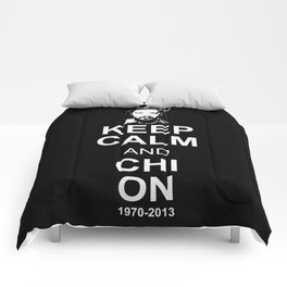 Keep Calm and Chi On Comforters