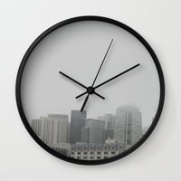 architecture Wall Clocks featuring ARCHITECTURE by monvurs
