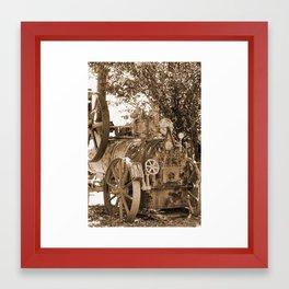 Davey, Payman & Co - Colchester England Sepia Framed Art Print