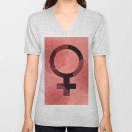 Female Symbol Unisex V-Neck