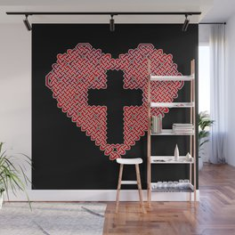 Celtic Knot Heart Wall Mural