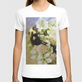 Bee On White Flowers T-shirt