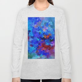 Abstract Seascape Painting Long Sleeve T-shirt