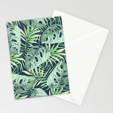 Tropical Branches on Dark Pattern 03 Stationery Cards