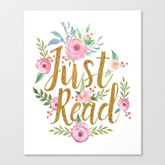 Just Read - White Canvas Print