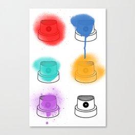 Spray Art Caps Canvas Print