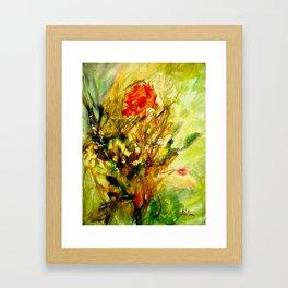 Sensual flowers 1 Framed Art Print