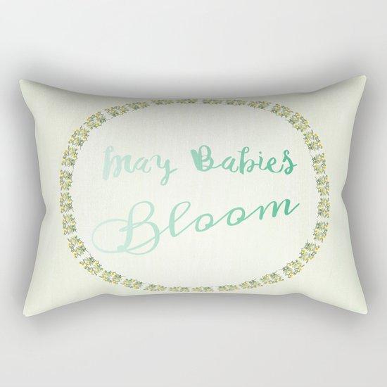 May Babies Bloom Rectangular Pillow