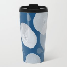 Monochromatic Poppies Travel Mug