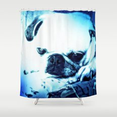 PUG LOVE ~ A Lovely Little Old Lady Shower Curtain