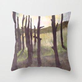 World's End Swamp Throw Pillow