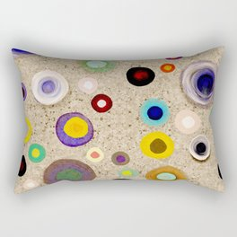 Strong Circles brown Rectangular Pillow