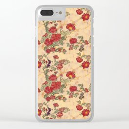 Project 397 | Red Roses on Gold Clear iPhone Case