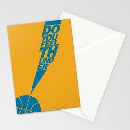 Do You Feel the Thunder? (Orange) Stationery Cards