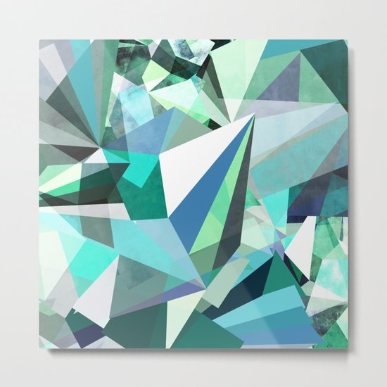 Colorflash 8 mint Metal Print