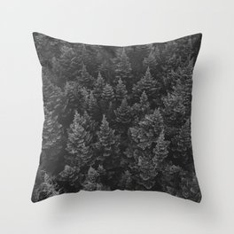 The Forest (Black and White) Throw Pillow
