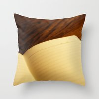 notebook Throw Pillows featuring Blank notebook by Nazar N.