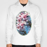 cherry blossoms Hoodies featuring Cherry Blossoms by Nadine May