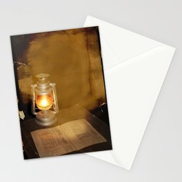 vintage lamp Stationery Cards