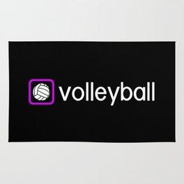Volleyball (Purple) Rug