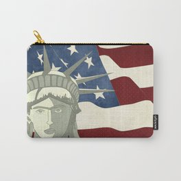 Statue of Liberty American Flag Carry-All Pouch