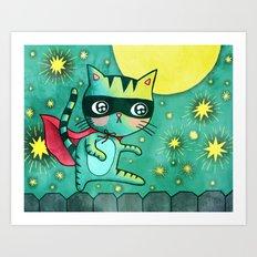 Cat Bandit Art Print