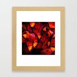 Fragments Of Fire - Abstract, geometric, fragmented pattern Framed Art Print