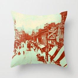 Granby Street Leicester Throw Pillow