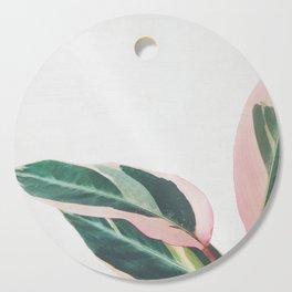 Pink Leaves II Cutting Board