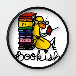Bookish Birdy | Veronica Nagorny Wall Clock