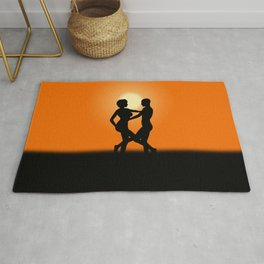 Sunset Dancing Lovers Rug
