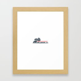 Laser Pointer Framed Art Print