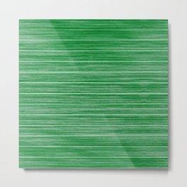 Bright Pastel Green Wood Beach House Cladding Metal Print