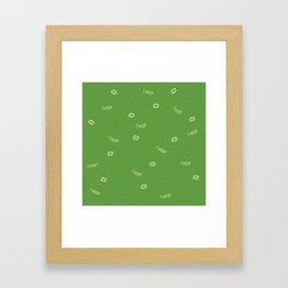 Cancer Pattern - Green Framed Art Print