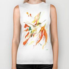 Flying Hummingbird Biker Tank
