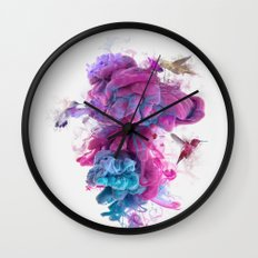 Hummingbirds Ink Wall Clock