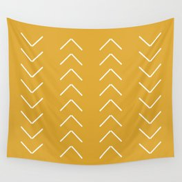 V / Yellow Wall Tapestry