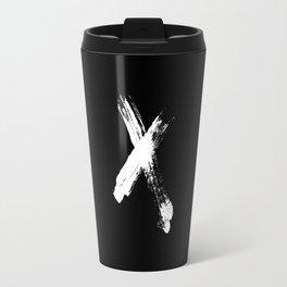X marks the spot (white) Travel Mug