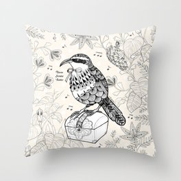 Taiwan Scimitar Babbler Throw Pillow