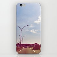 road iPhone & iPod Skins featuring Road by Gasoline Rainbow