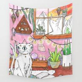 Gemini cat Wall Tapestry