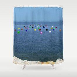 Buoys 01 Shower Curtain