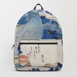 Mount fuji japon from Utagawa Kuniyoshi Backpack