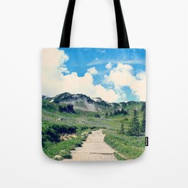 Up Mount Rainier Tote Bag